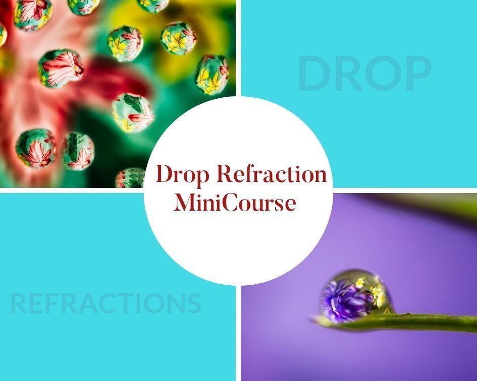 water drop refraction mini course